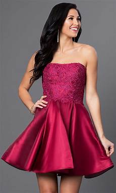 wine homecoming dress by blush promgirl