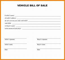 Bill Of Sale For Car Sale 8 Vehicle Bill Of Sale Template Word Sample Travel Bill