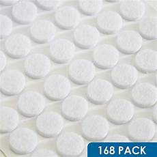 168pcs felt pads door bumpers sheet adhesive back clear