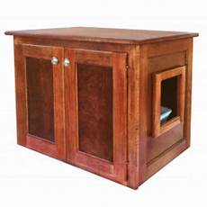 amish made cat litter box cabinet large
