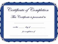Blank Certificate Of Completion Template Completion Certificate Template Form Edit Fill Sign
