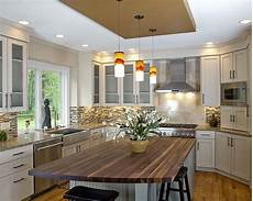 tile backsplash for kitchens with granite countertops kitchen remodel butcherblock island cabinets white glass