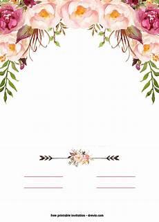 Design Printable Invitations Free Printable Boho Chic Flower Baby Shower Invitation