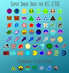Super Smash Bros Character Chart Super Smash Bros Character Icons By Starboltarts On
