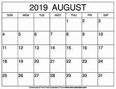 Printable Calendar August Free Printable August 2019 Calendar