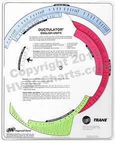 Free Online Ductulator Chart Hvac Charts Ductulator Calculator Large View