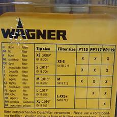 Wagner Paint Sprayer Tip Size Chart Filter Nozzle Lance And Cleaning For The Wagner Airless