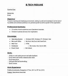 Curriculum Vitae Samples For Freshers 16 Resume Templates For Freshers Pdf Doc Free