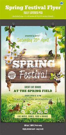 Spring Event Flyer Template Spring Festival Flyer By Corrella Graphicriver