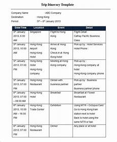 Itinerary Template Pages Trip Itinerary Template 33 Free Word Excel Documents
