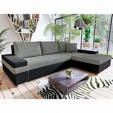 corner sofa bed grey black furco this
