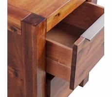 vidaxl bed with nightstands solid acacia wood brown king