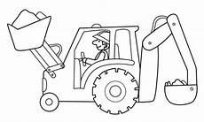 kostenlose malvorlage transportmittel baggerfahrer mit