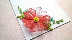 Flower Design For Cards Card Designs Quilling Flowers Tutorial And Quilling