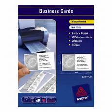 Avery Business Card Creator Cos Avery Laser Business Cards L7414 90x52mm