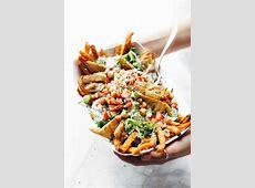 Loaded Mediterranean Street Cart Fries Recipe   Pinch of Yum