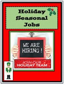 Seasonal Jobs Career Readiness Employment Christmas And Holiday