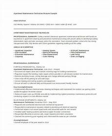 Apartment Maintenance Supervisor Resumes Maintenance Resume 9 Free Word Pdf Documents Download