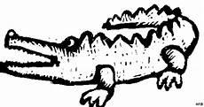 schematisches krokodil 2 ausmalbild malvorlage tiere