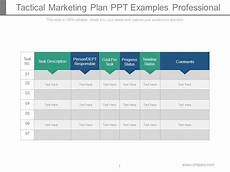 Tactical Plan Tactical Marketing Plan Ppt Examples Professional