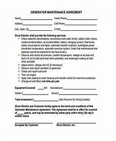 Maintenance Contract Sample Free 8 Sample Maintenance Contract Forms In Pdf Ms Word