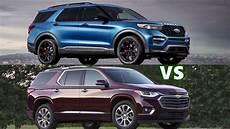 2020 chevy traverse 2020 ford explorer vs 2019 chevy traverse