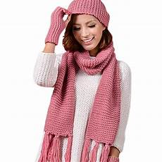 Designer Hat And Scarf Set Women S 3 Piece Sets Knitted Winter Hats For Women S Hat Scarf