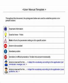 Ms Word User Manual Template 8 Instruction Manual Templates Free Sample Example