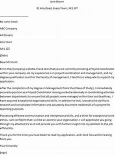 Cover Letter For Project Coordinator Position Project Coordinator Cover Letter Example For Job