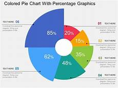 Drawing Pie Charts Ppt Colored Pie Chart With Percentage Graphics Flat Powerpoint
