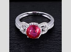 Marvelous Ruby and Diamond Engagement Ring   JeenJewels