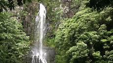 tropical island waterfall stock footage video 2912674