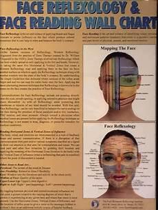 Face Reflexology Chart Face Reflexology Amp Face Reading Wall Chart Reflexology