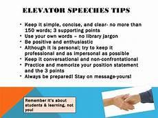 Elevator Speech For College Students Elevator Speech
