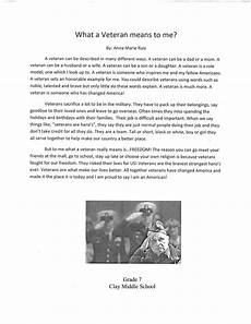 Essays On Veterans 2013 Veterans Day Essay Contest Winners City Of Carmel