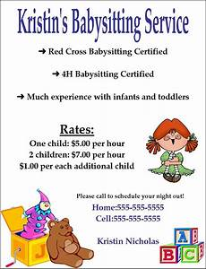 How To Write A Good Flyer Good Babysitting Flyer Google Search Babysitting Ideas