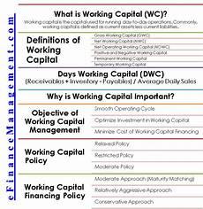 Work Capital Working Capital Financing Loans Types Cc Od Bg Lc