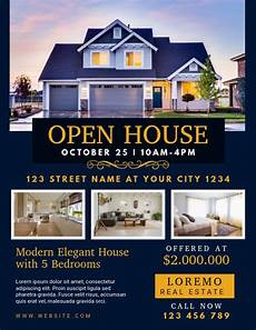 Real Estate Open House Flyers Real Estate Open House Flyer Template Postermywall