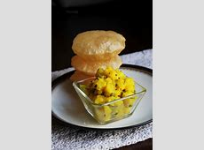Poori Bhaji Recipe   How to make Poori bhaji / Puri bhaji
