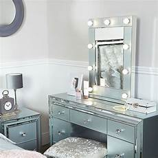 grey vanity mirrored mirror with 9 dimmable led