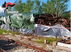smaltimento traversine ferroviarie irpinia sequestrate dai carabinieri 80 metri cubi di