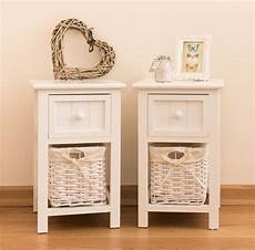 Vasagle Hallway Side Table Bedside Unit With 2 Mesh by Set Of 2 Bedside Tables Pair Side Cabinet Shabby Chic Unit