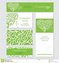 Corporate Invitation Card Format Set Of Business Or Invitation Cards Templates Stock