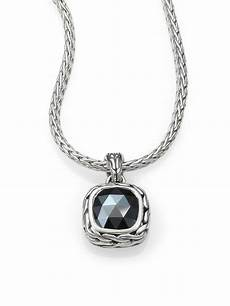 Designer Sterling Silver Necklaces Lyst John Hardy Classic Chain Sterling Silver Small