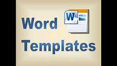 Work Templates Free Making Templates In Microsoft Word Youtube