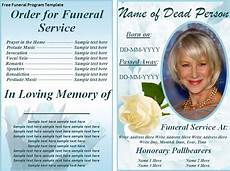 Funeral Program Templates Free Free Funeral Program Template E Commercewordpress
