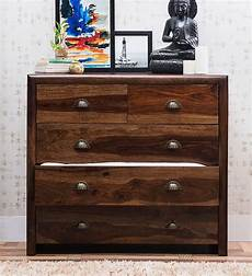 buy polson chest of five drawers in provincial teak finish