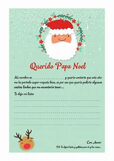 Cartas Para Papa Noel Carta A Papa Noel