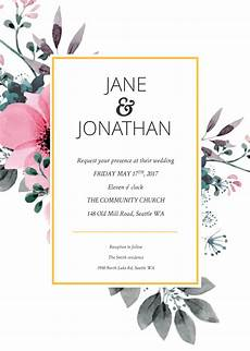 Making Invitations Online Free Floral Splash Wedding Invitation Template Wedding