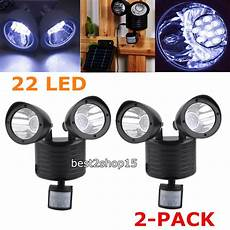 Motion Detector Garage Lights 2x Solar Powered Motion Sensor 22 Led Garage Security